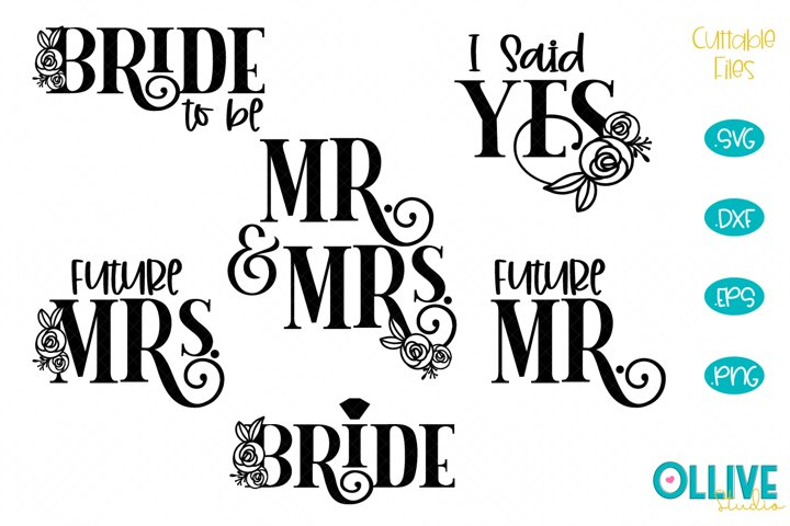 Wedding and Engagement Floral SVG Bundle