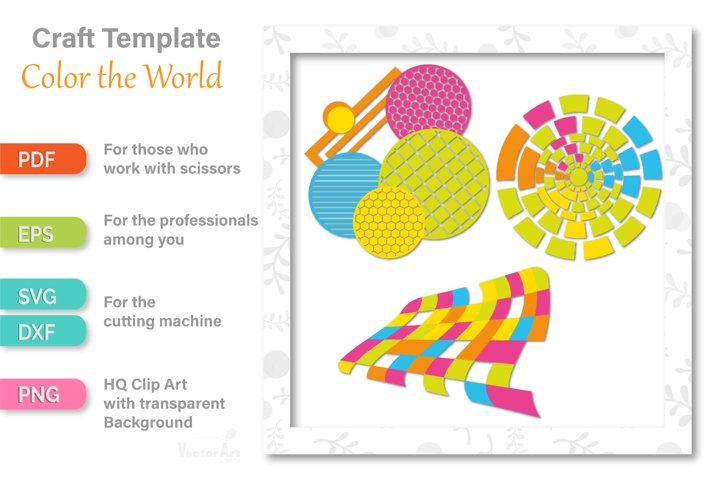 Colorful Geometric - Cut File for Crafters