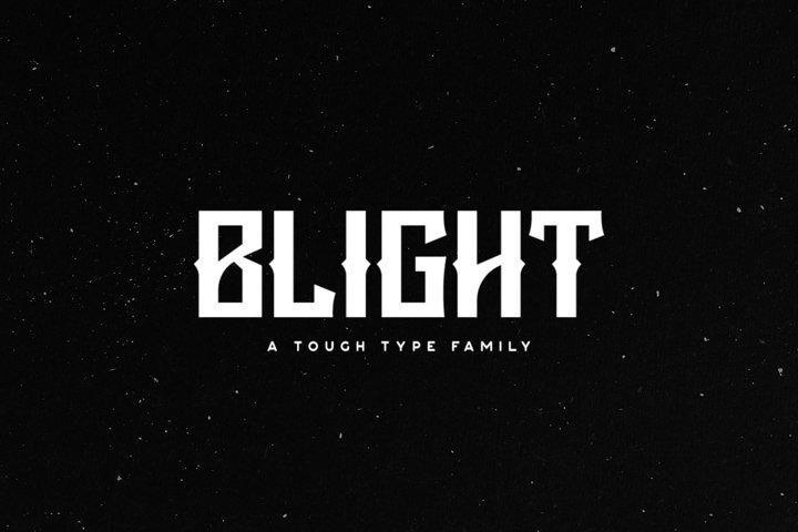 Blight Typeface