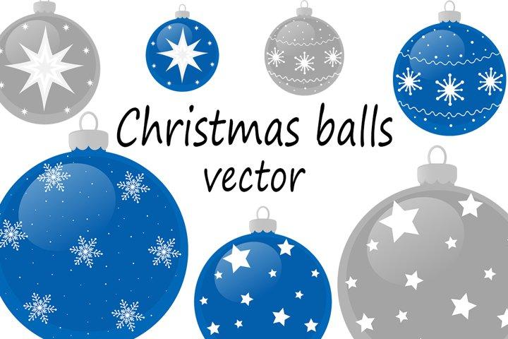 Set Christmas balls vector illustration