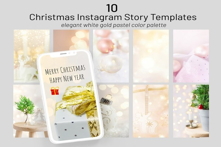 Bundle of 10 Christmas Instagram stories templates