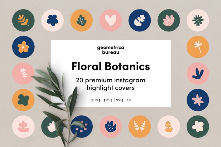 Instagram Highlight Covers Floral Botanics