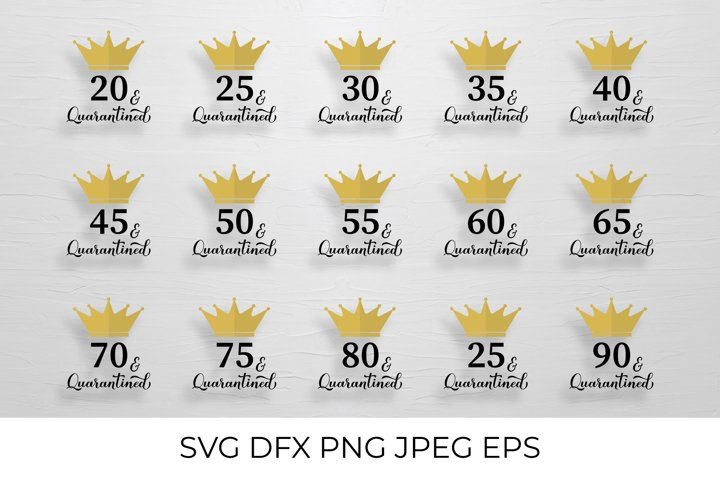 Quarantined Birthday SVG Bundle. Funny Birthday Gifts