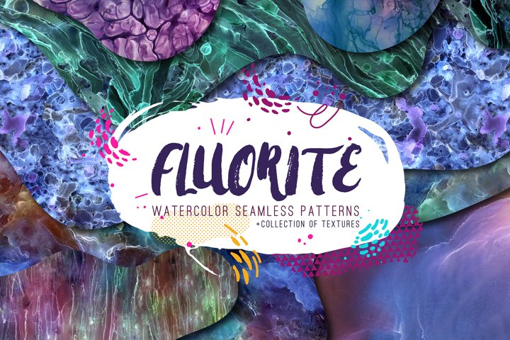 FLUORITE. Watercolor collection