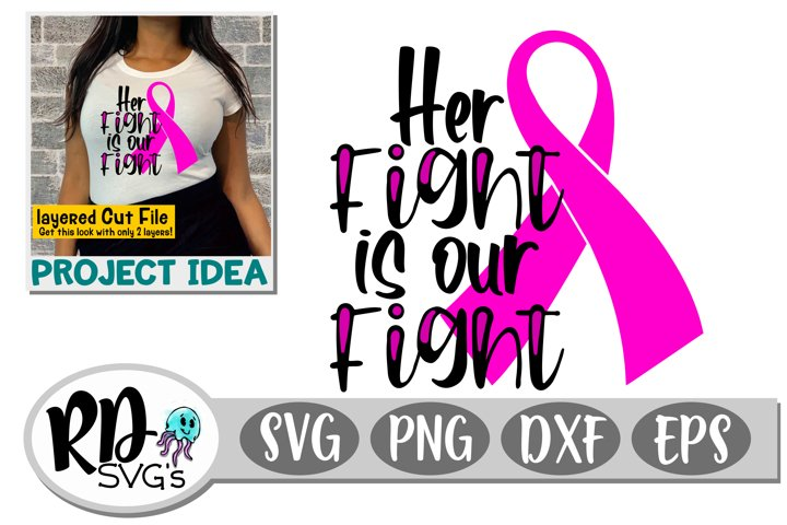 Her Fight is Our Fight - A Layered Breast Cancer Cut File