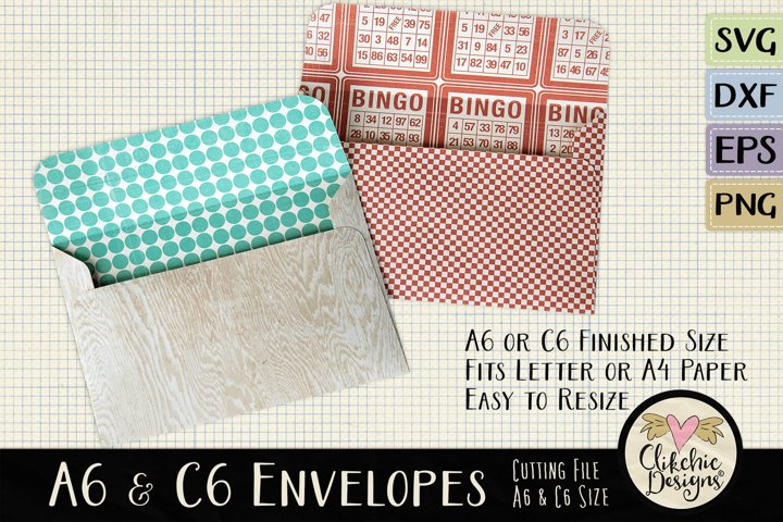 A6 & C6 Envelope SVG - Envelope Cutting File Template