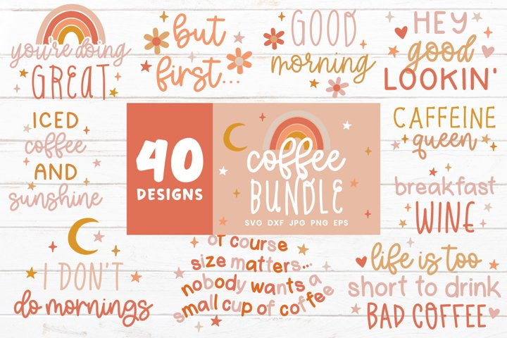 Coffee Svg Bundle | Coffee Mug Svg | Caffeine Svg Cut Files