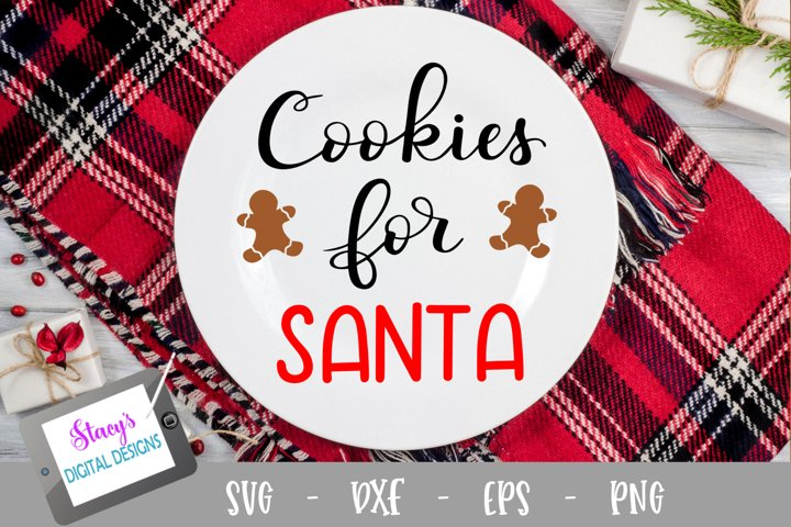 Christmas SVG - Cookies for Santa SVG file, handlettered example
