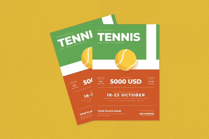 Tennis Tournament Flyer