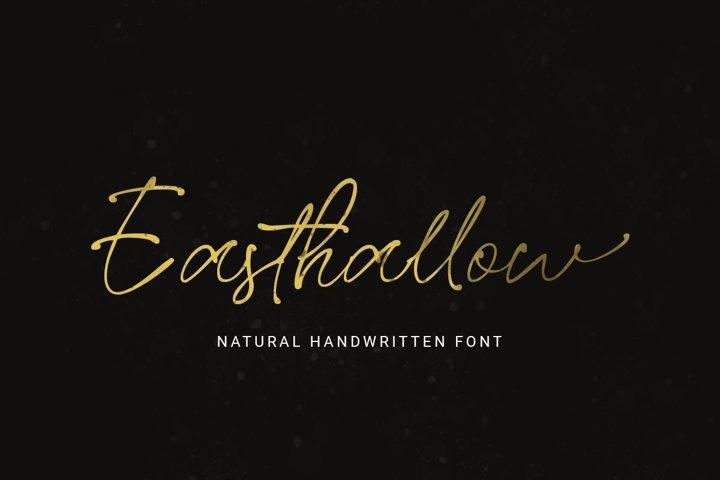 Easthallow Handwritten Font