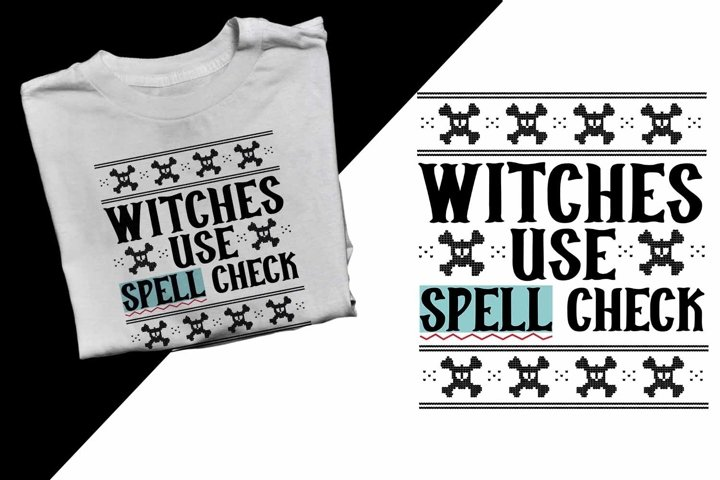 Witches use spell check Halloween Printable