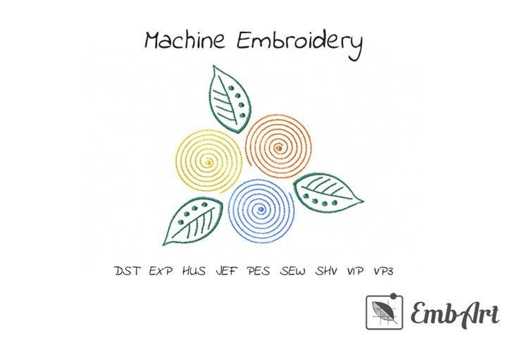 Spiral Flower Motif - Machine Embroidery Design