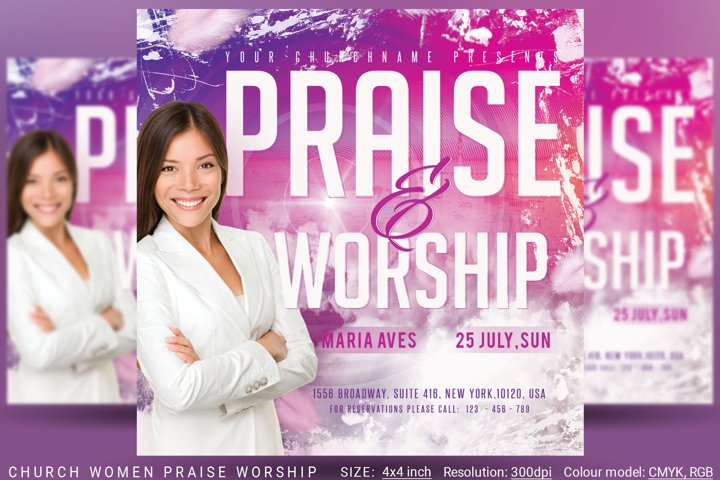 Church Women Praise Worship Flyer