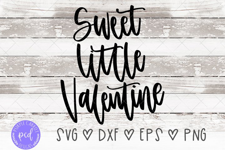 Sweet Little Valentine Hand-Lettered Cut File