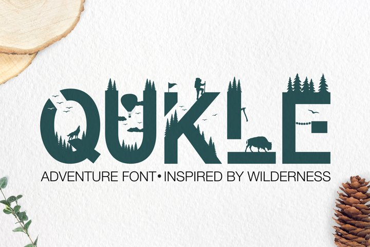 Qukle - Adventure Font - Wilderness Typeface