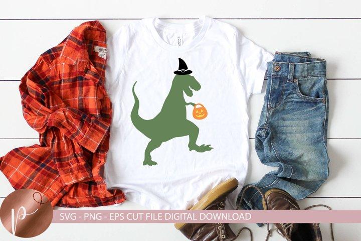Halloween Dinosaur Svg, Witch Dinosaur Shirt Design, Cricut