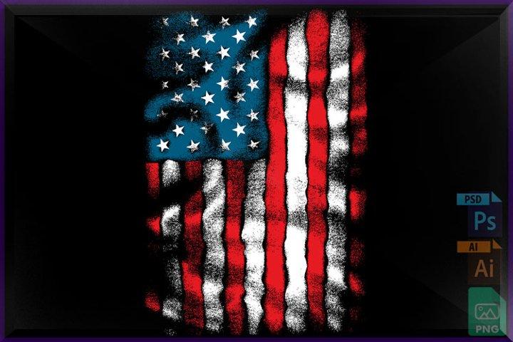 AMERICAN Flag Chest