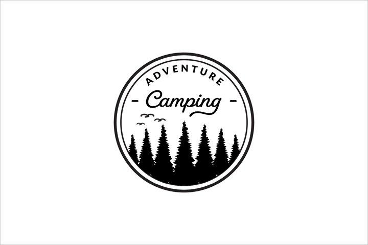 vintage camping logo