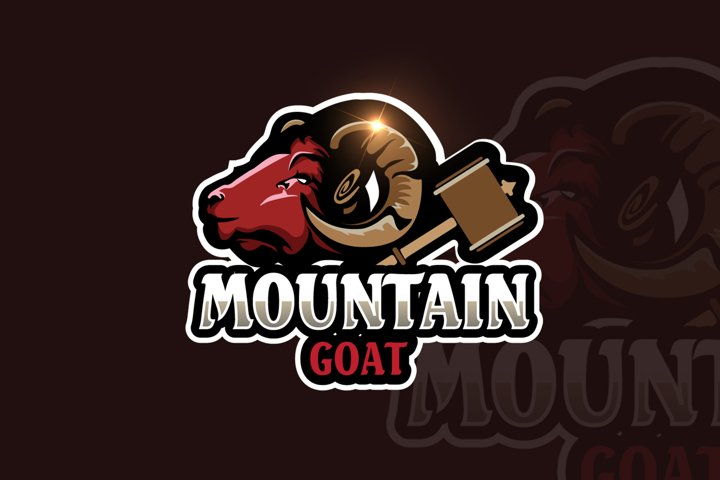 Goat Mascot & eSports Gaming Logo