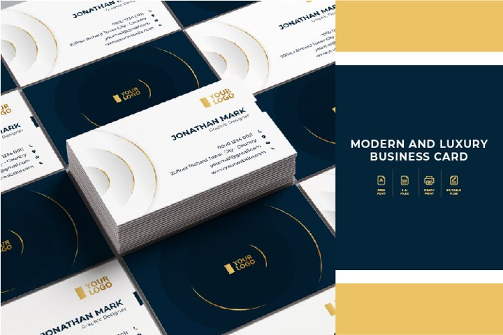 MODERN AND LUXURY BUSINESS CARD