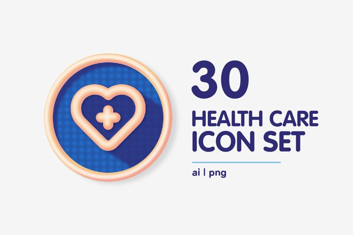 Colourful Health Care Medical Icon Set