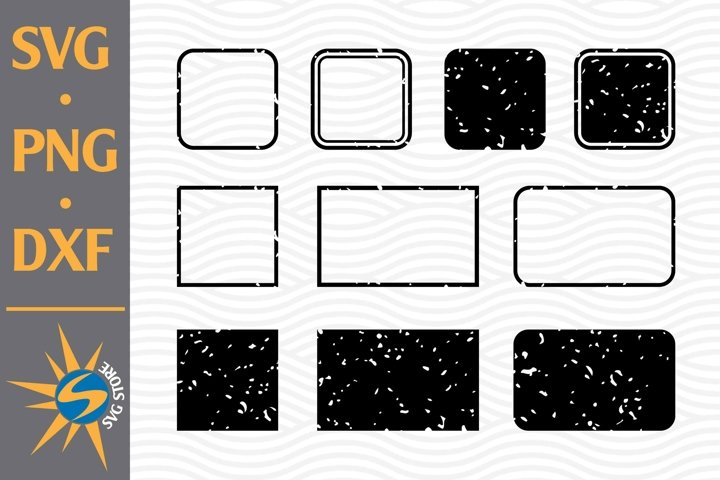 Distressed Rectangle Silhouette SVG, PNG, DXF Digital Files