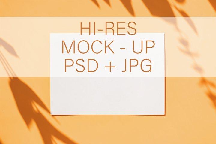 Minimalist card mock-up