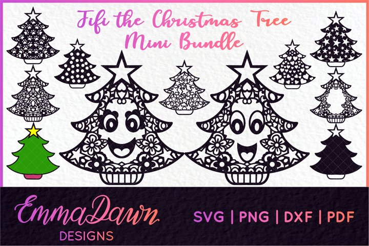 FIFI THE CHRISTMAS TREE SVG MINI BUNDLE 11 DESIGNS