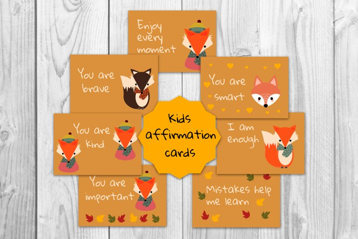Kids affirmation, Motivational cards, Positive thinking