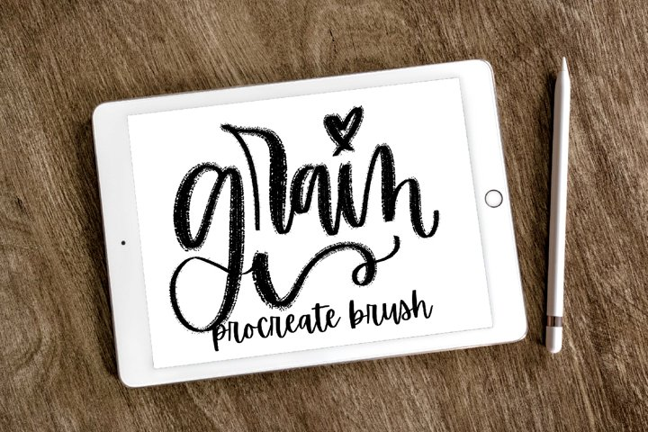 Procreate - Lettering Brush - Grain