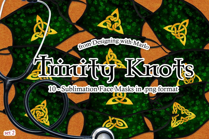 Trinity Knots Face Mask Designs - set 2, Sublimation PNG