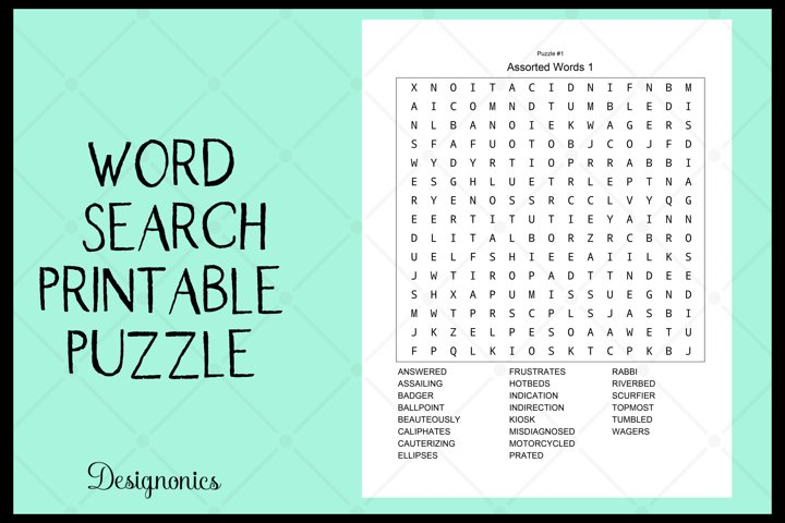 Word Search Puzzle Game Printable 1