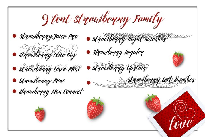 Strawberry Family - Free Font of The Week Design0