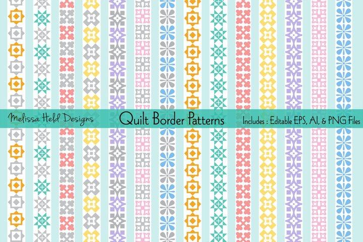 Pastel Quilt Border Patterns