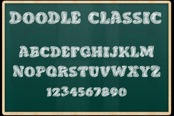 Doodle Classic - Sketch Font
