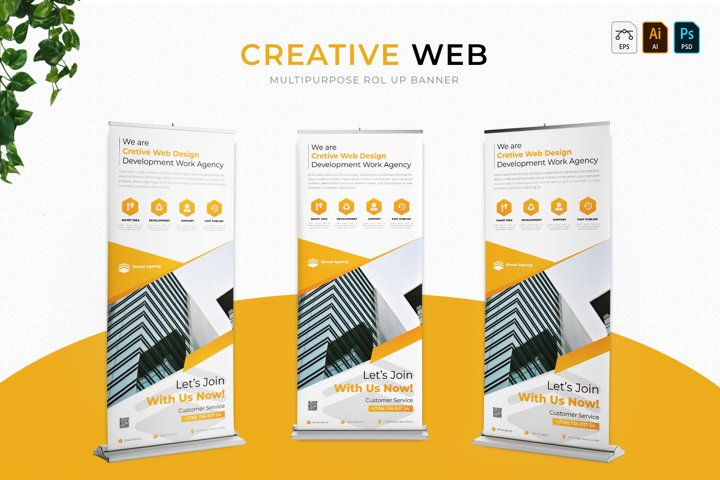 Creative Web   Roll Up Banner