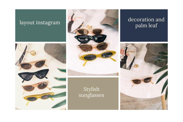 stylish layout instagram. Many stylish, fashionable glasses