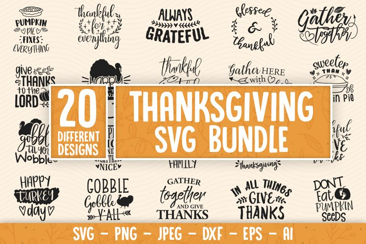 Fall SVG Bundle, Thanksgiving svg, autumn svg