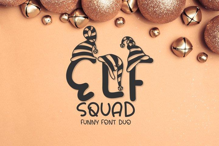 Elf Squad Font Duo   Funny Christmas Font