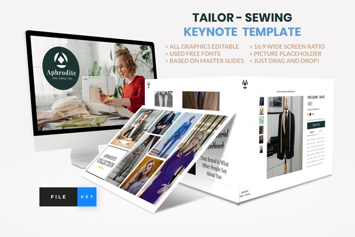 Tailor - Sewing Fashion Craft Keynote Template
