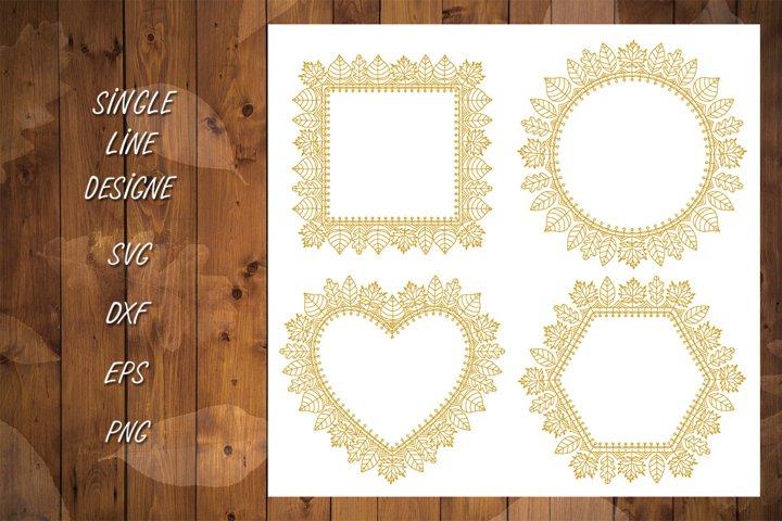 Frame Single Line SVG,DXF,Foil Quill,Autumn Bundle,Shapes