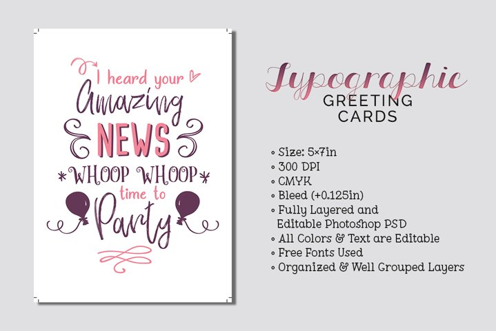 Typographic Greeting Cards