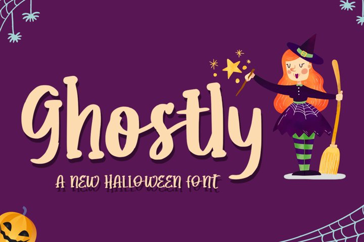 Ghostly - Quirky Halloween Font