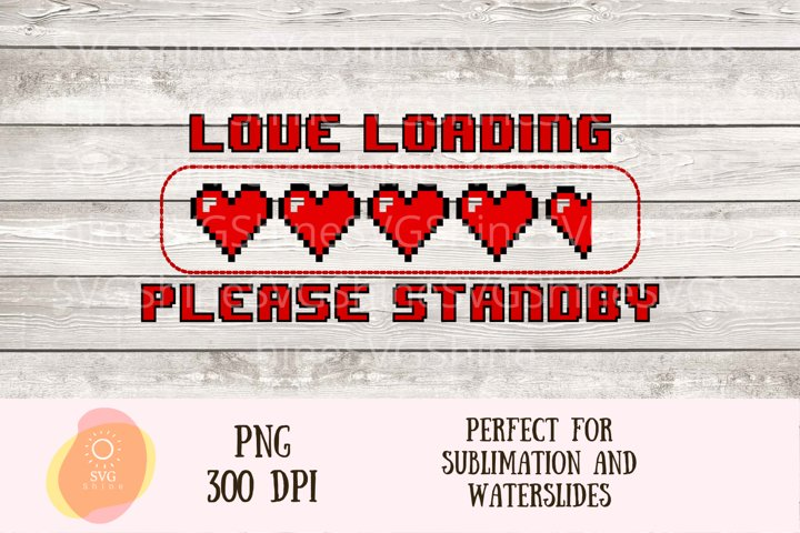 Sublimation Valentines Day Gaming PNG Design