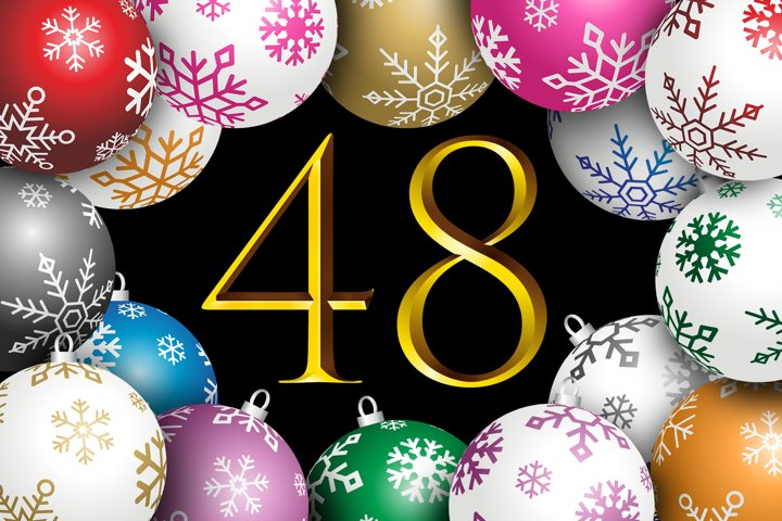 Happy 48 Christmas Ball in 8 Colors