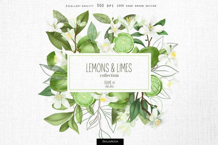 Lemons & limes. Frame #1.