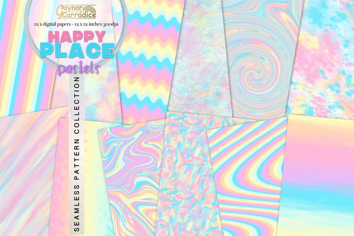 Happy Place - rainbow seamless textures