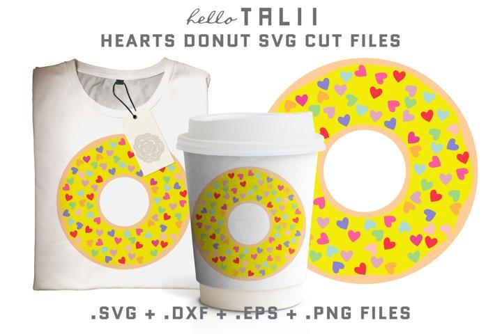 Hearts Donut SVG Cut Files