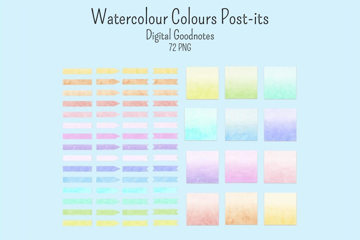 Water colour sticky notes