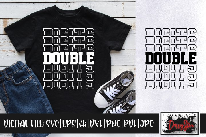 Double Digits SVG DXF Ai EPS PDF PNG JPG
